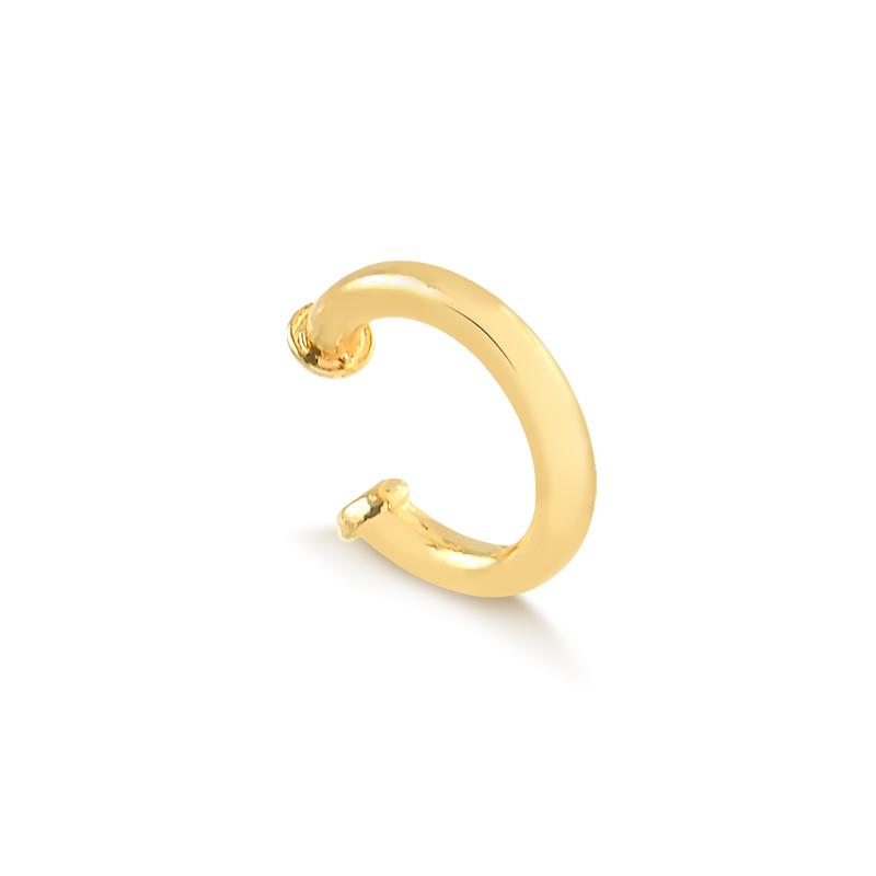 Piercing fake liso banhado a ouro 18k feminino
