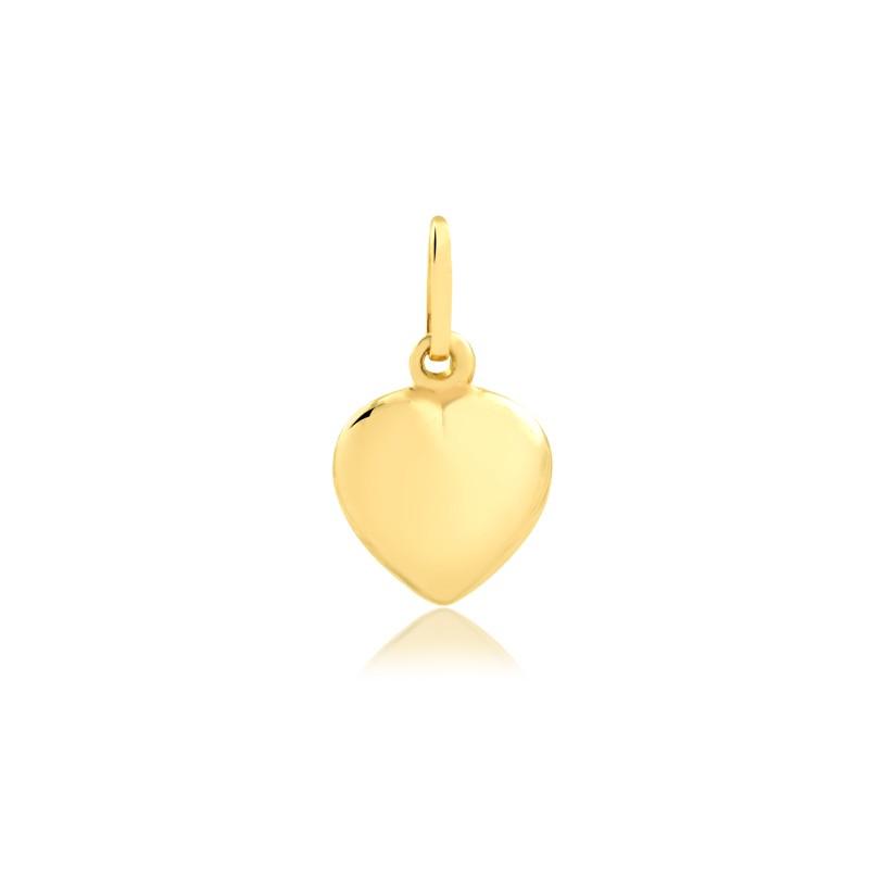 Pingente de coração liso ouro 416 feminino