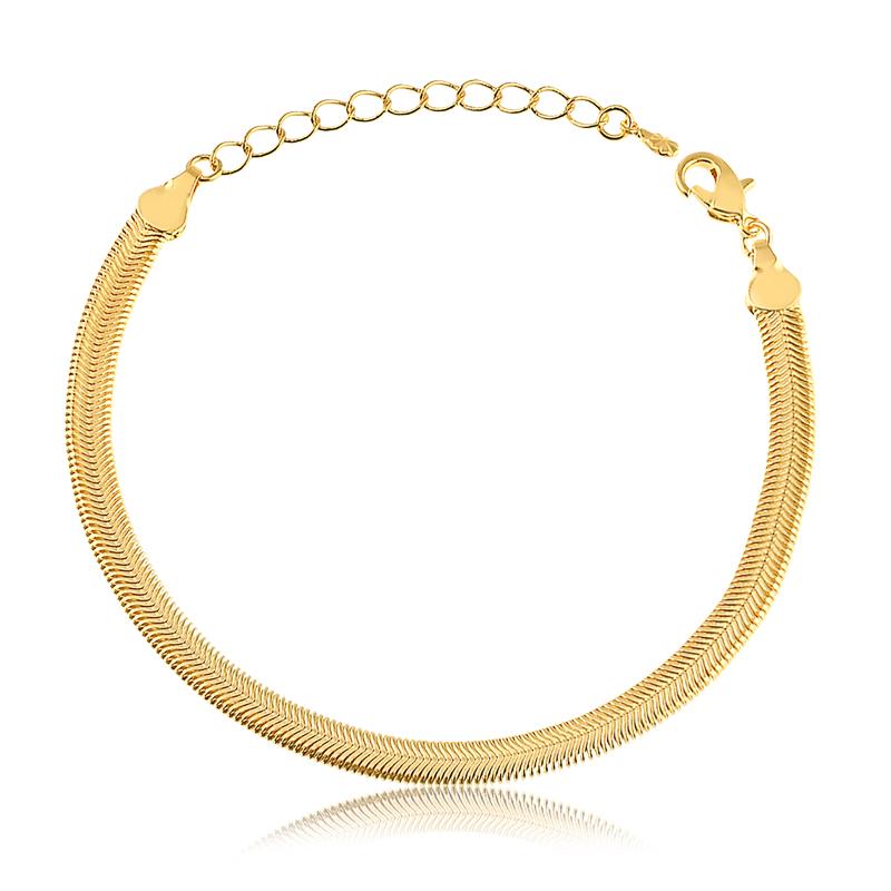Pulseira snake banhada a ouro 18k feminina