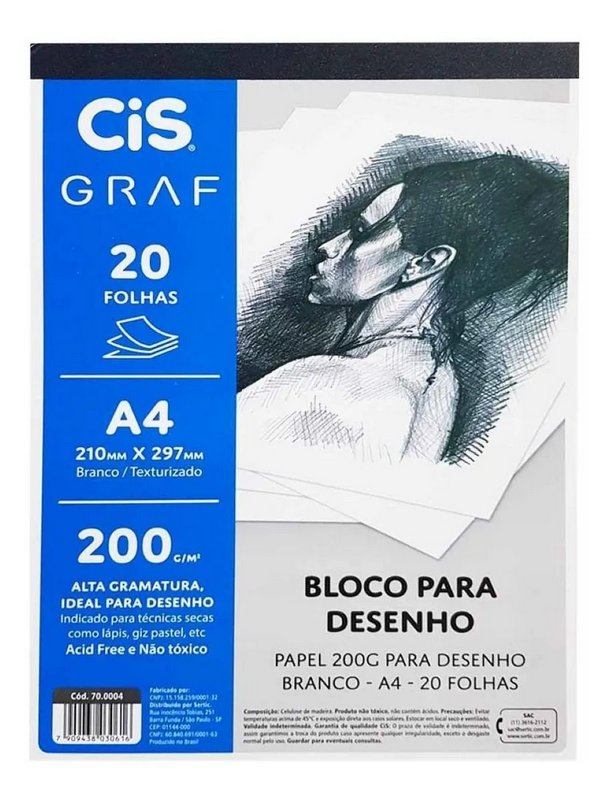 Bloco para Desenho A4-CIS