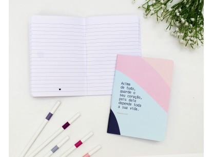 Caderneta Acima de tudo Guarde o seu Coração - Papelote