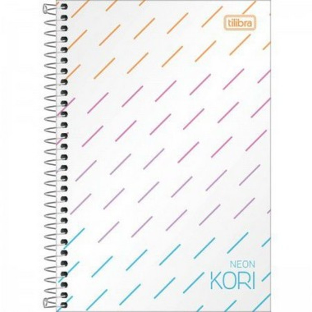 Caderneta Espiral 1/4  Neon Kori -80 Folhas