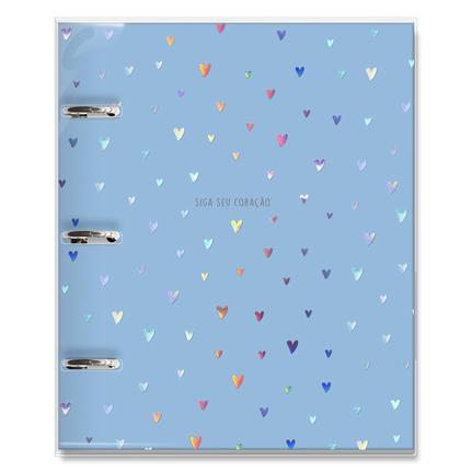 Caderno Argolado Corações Holograficos - Fina Idéia