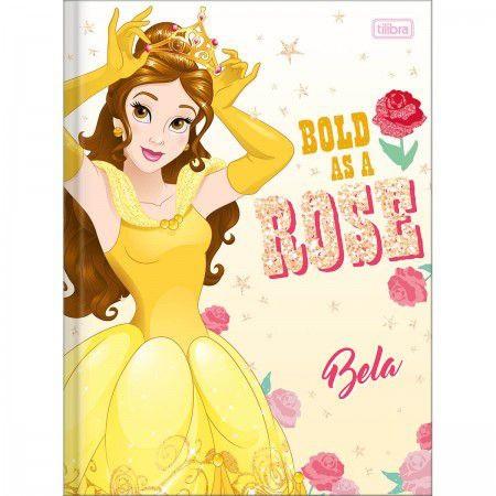 Caderno Brochura 1/4 (pequeno) Capa Dura 80 Fls Princesas Bela - Tilibra