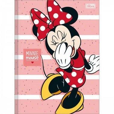 Caderno Brochura Capa Dura Universitário Minnie 80 Folhas