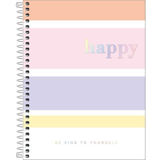 Caderno Colegial 1 Matéria Happy  - Tilibra