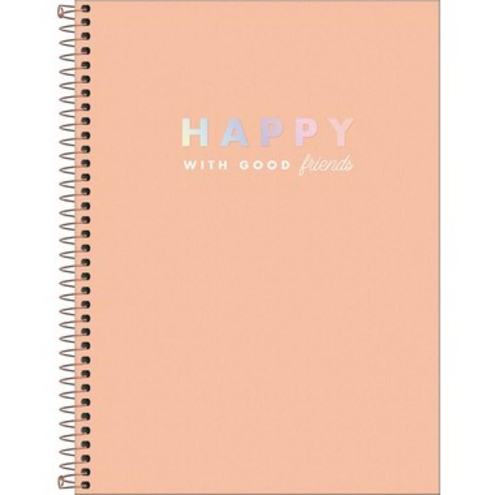 Caderno Espiral Tilibra Universitário 10 Matéria Happy