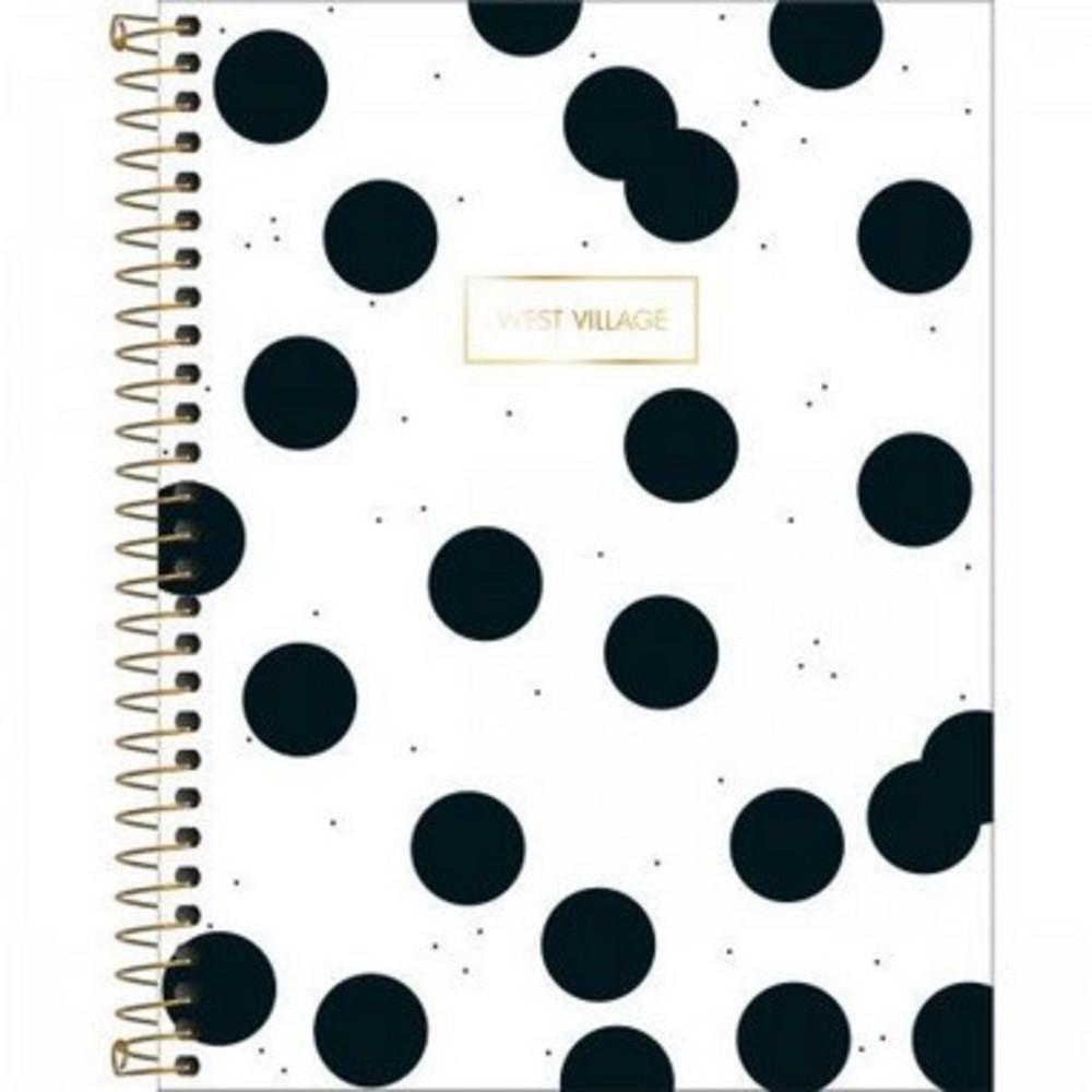 Caderno Espiral Capa Dura Universitário 10 Matéria West Village  160 Folhas