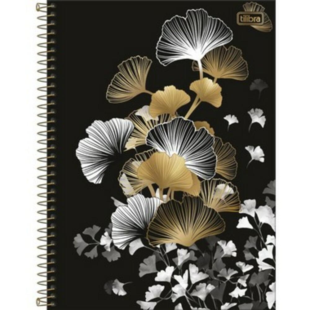 Caderno Espiral Capa Dura Universitário 10 Matérias B&W