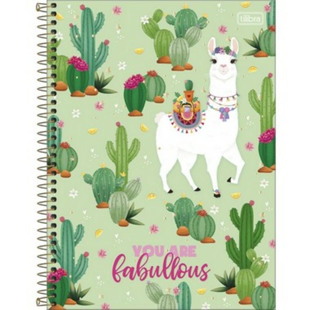 Caderno Espiral Capa Dura Universitário 10 Matérias Hello! 160 Folhas