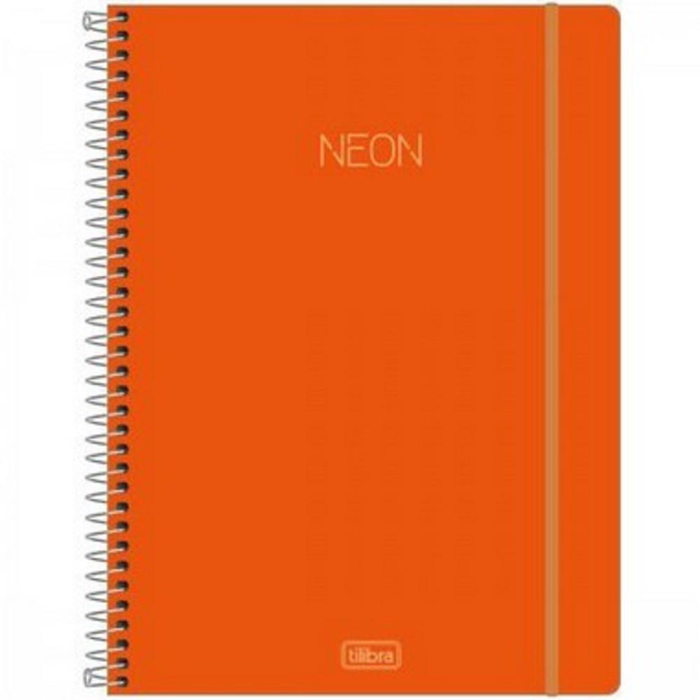 Caderno Espiral Universitario Neon TILIBRA -10 Matérias