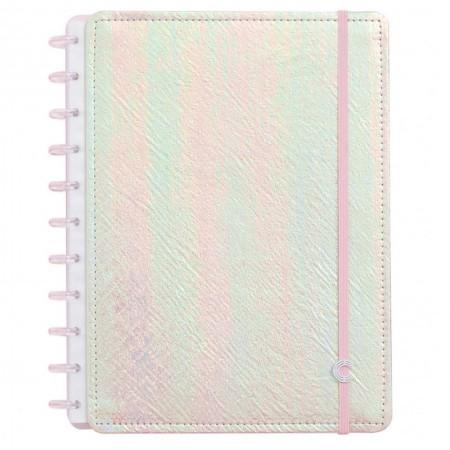 Caderno Inteligente Rosa Holografico
