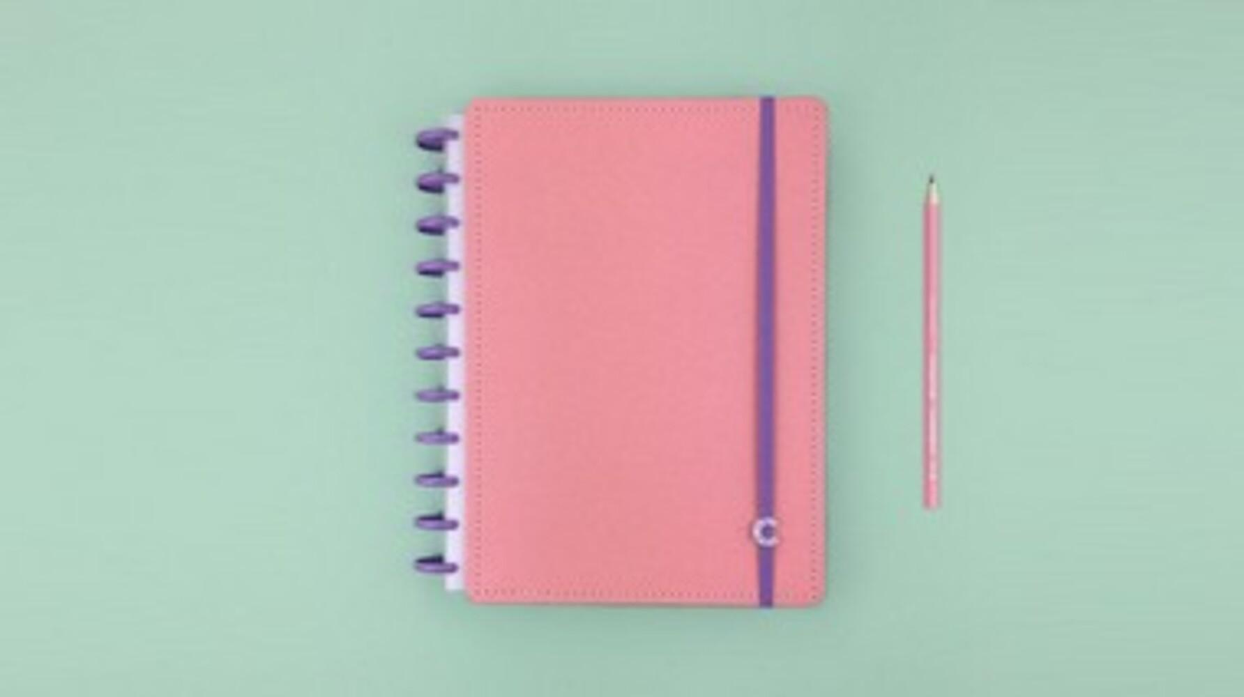 Caderno Rose Rosé G+