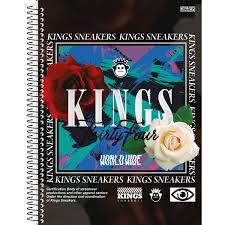 Caderno Universitário Kings Snkrs 10 Matérias - SD