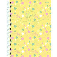 Caderno Universitário Love 10 Matérias - SD