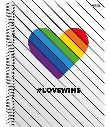 Caderno Universitário #Love Wins 10 Matérias - SD