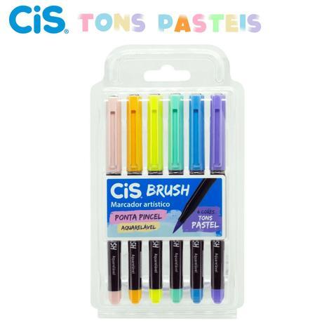 Caneta Brush Tons Pastéis  CIS