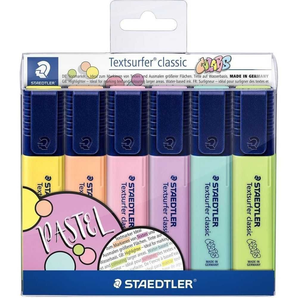 Caneta Marca Texto Staedtler Textsurfer Classic - 6 Cores