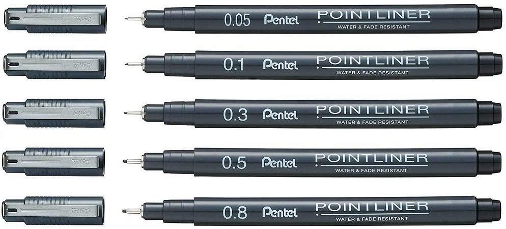 Caneta Nanquim Pointliner - Pentel