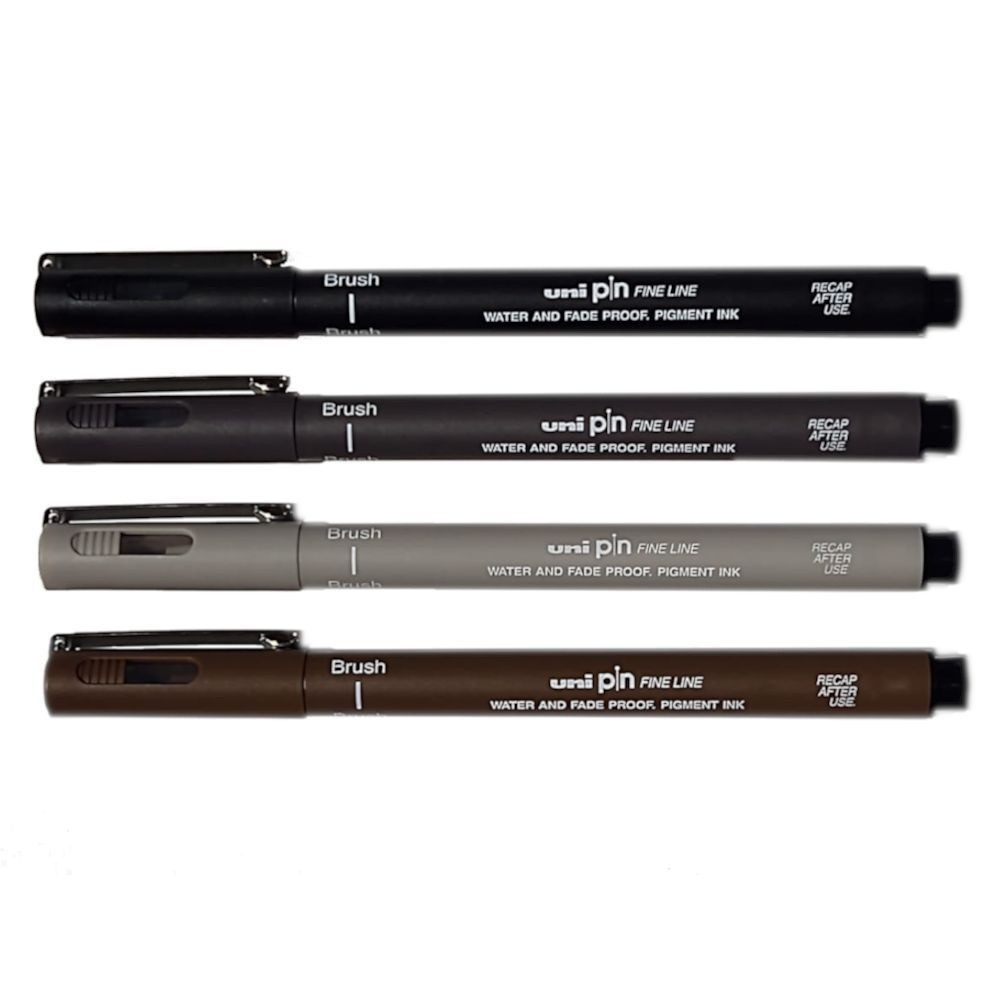 Caneta Uni Pin Brush