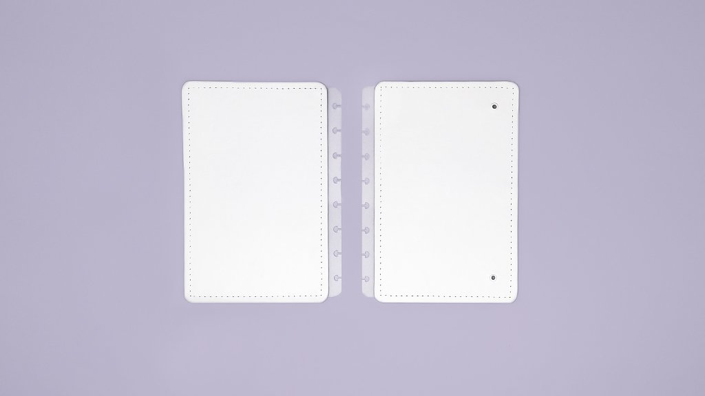 Capa e Contracapa  Caderno Inteligente All White