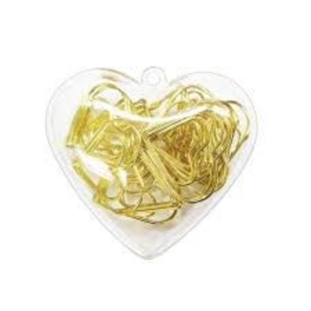 Clips Tilibra Coração Dourado
