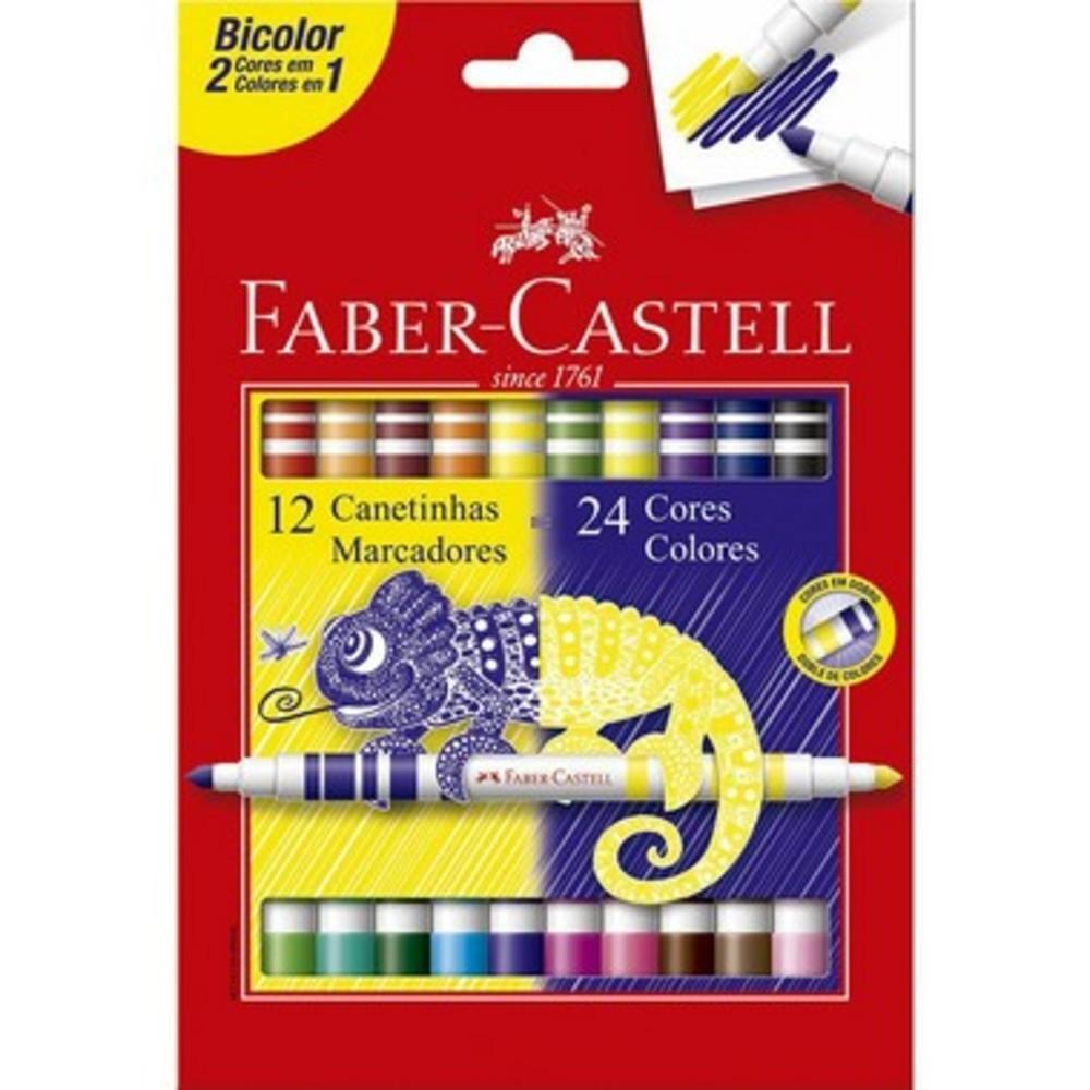 Hidrografica Bicolor c /12 Cores FABER CASTELL