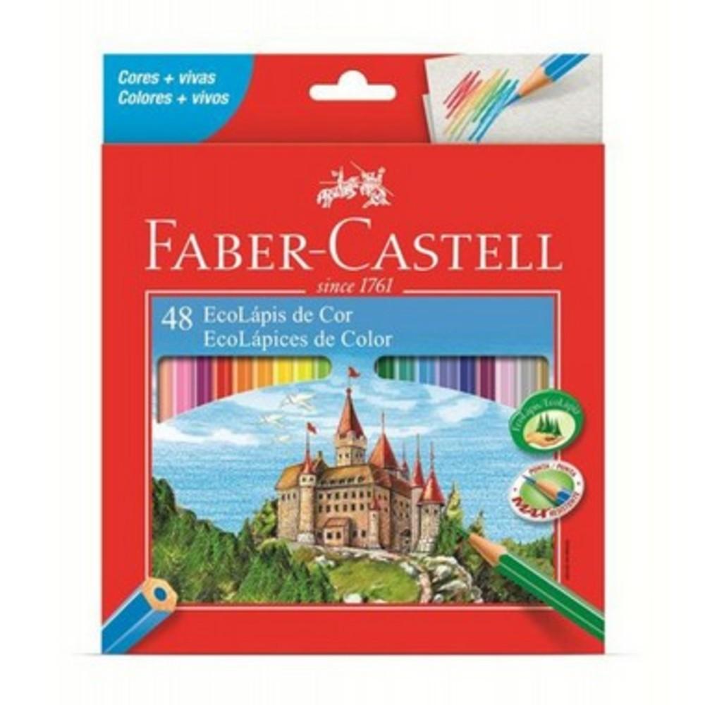 Lápis de Cor Ecolápis 24 cores Fabber + Apontador Com Déposito