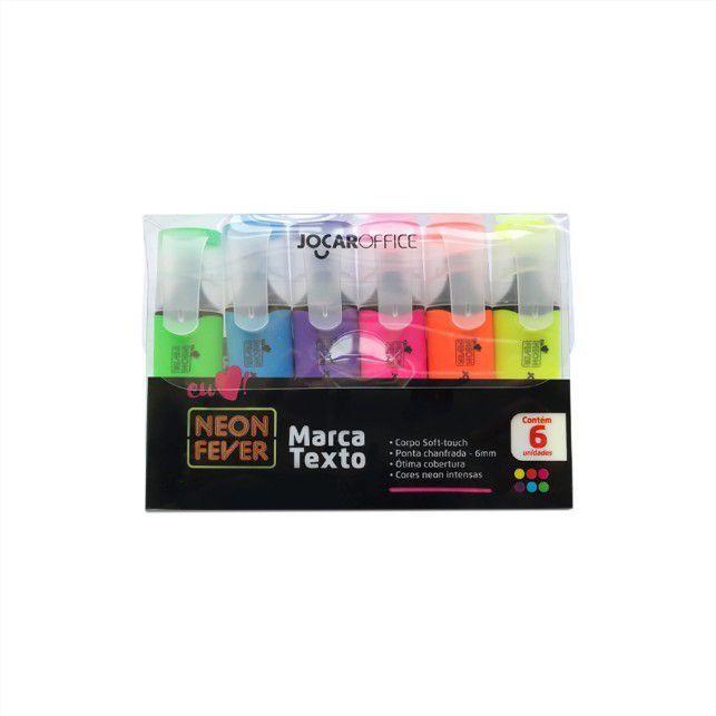Marca Texto Neon Fever c/6 unidades Neon JOCAR OFFICE