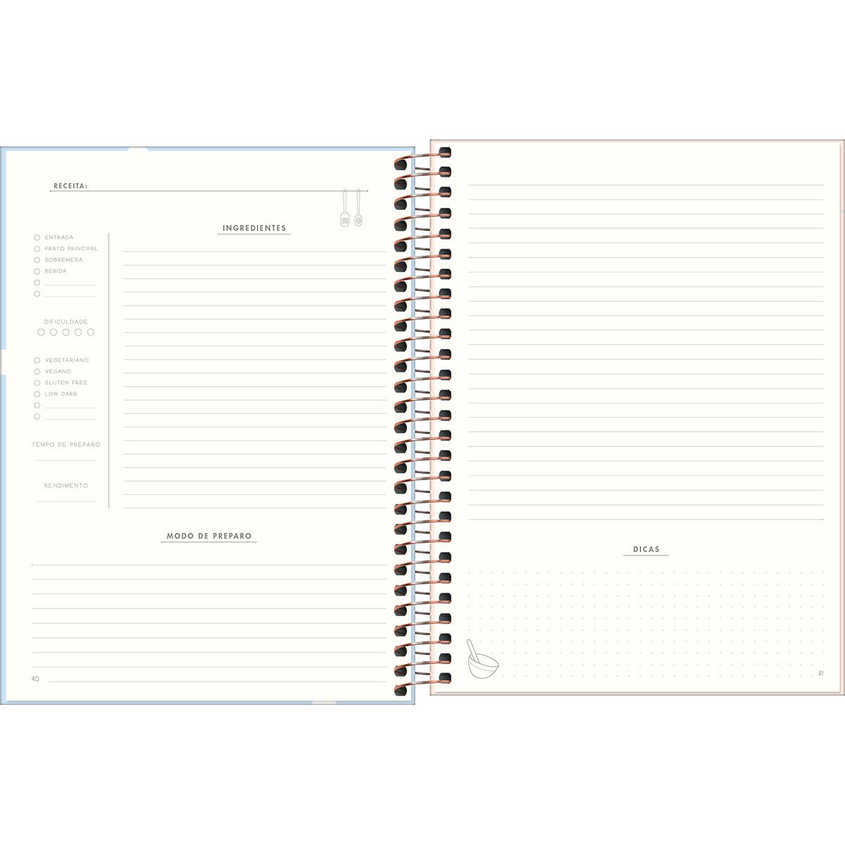 Meu Caderno de Receitas Soho - Tilibra