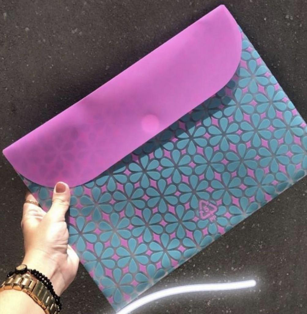 Pasta Envelope com Velcro A4 Verde