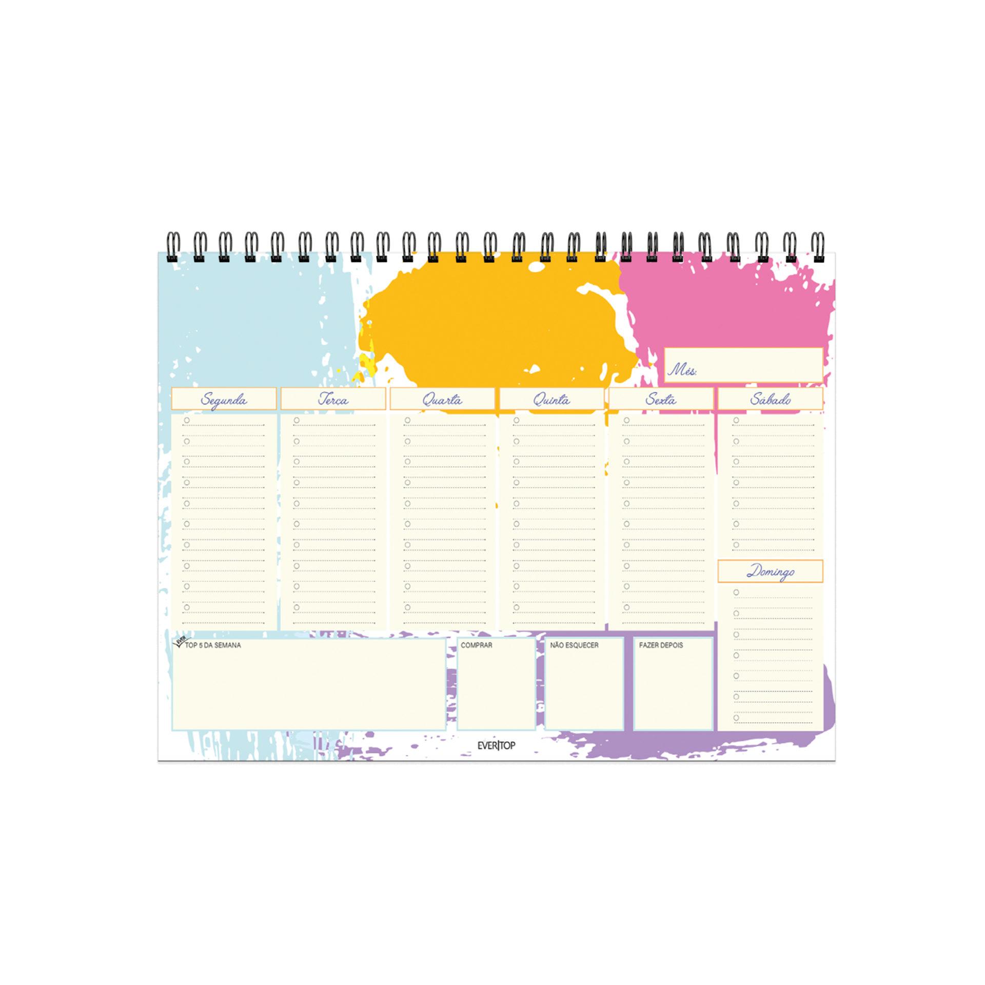 Planner de Mesa Semanal  EVERTOP