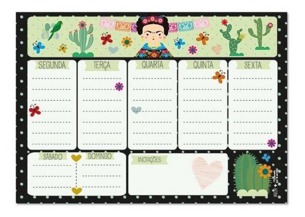 Planner Semanal -Frida