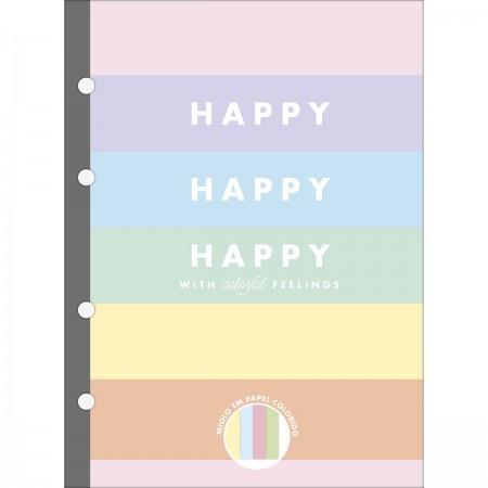 Refil Colegial Happy Colorido 80 Folhas TILIBRA