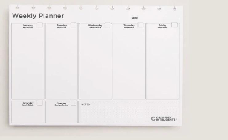 Refil Weekly Planner - Caderno Inteligente