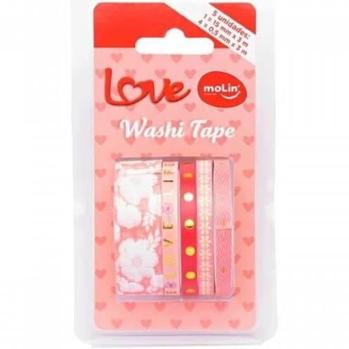 Washi tape Molin c/ 5 Unidades