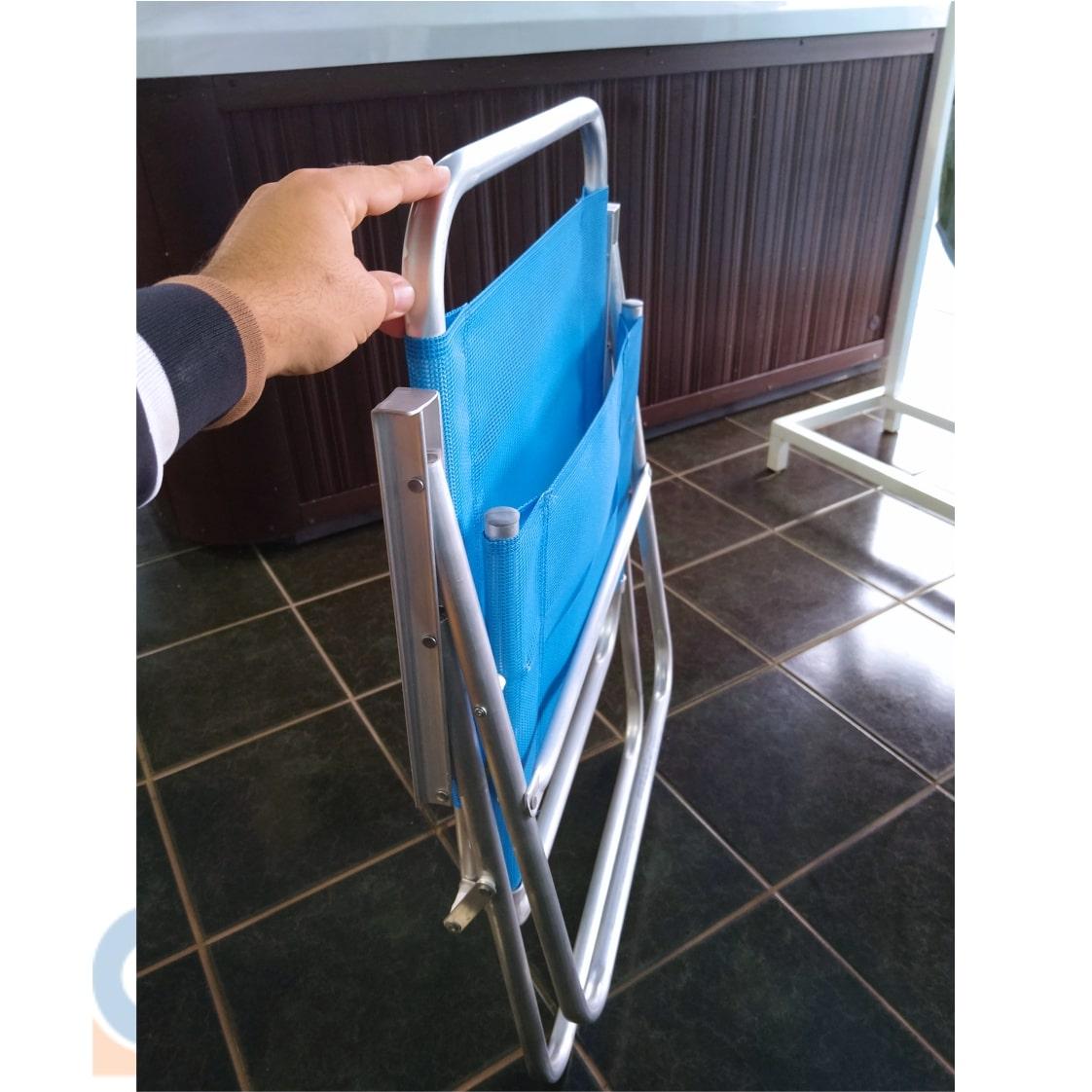 Cadeira Conforto Sannet Alumínio Dobrável - Reforçada - Ronchetti