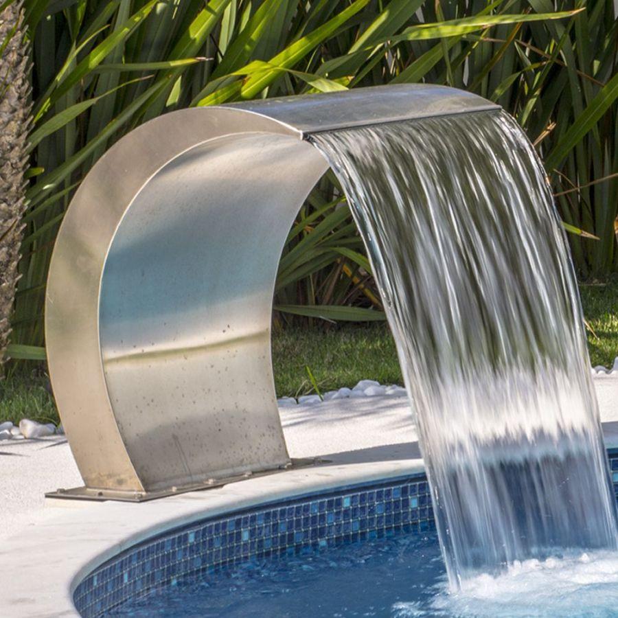 Cascata para piscina Victória Pratic Jr Em Aço Inox - Sodramar