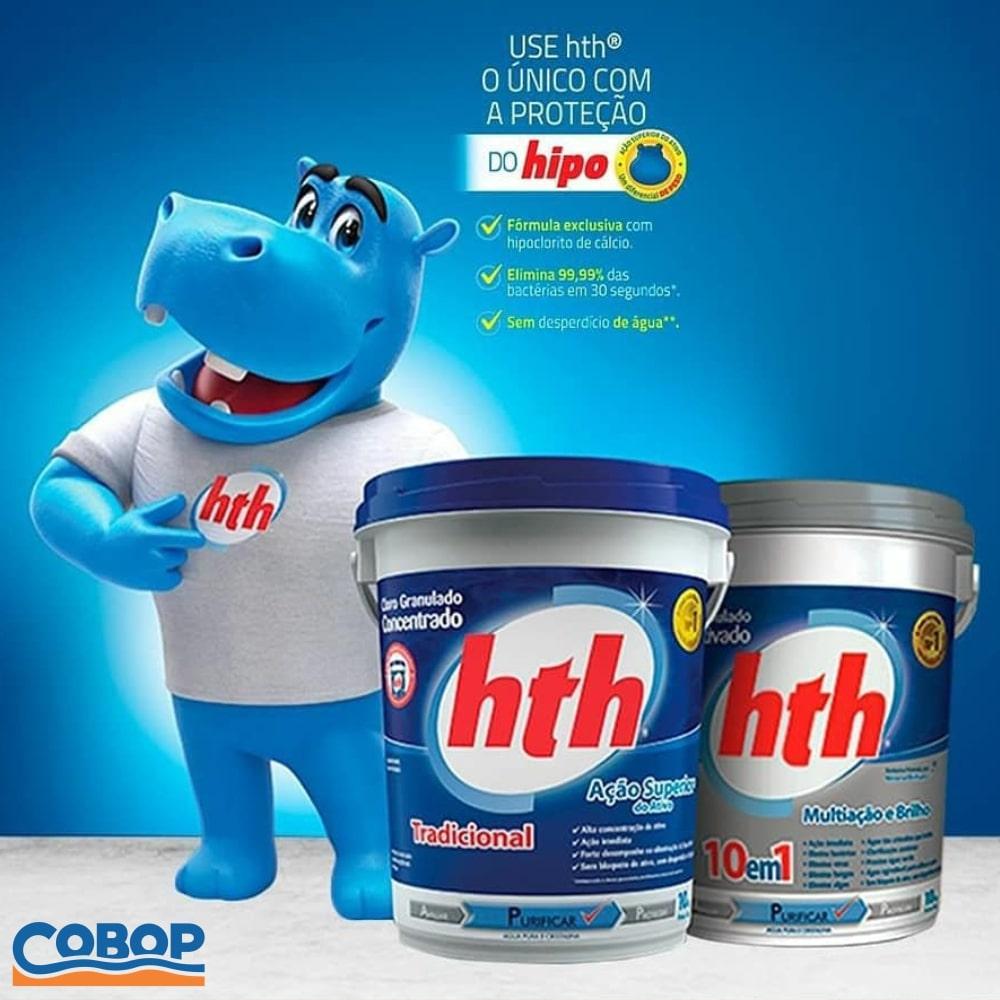 Cloro HTH Concentrado Tradicional p/ Piscina 10kg + BRINDE