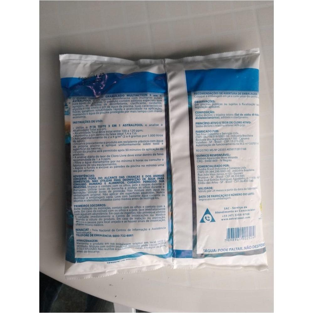 Cloro Orgânico 5 em 1 Astralpool - 1kg