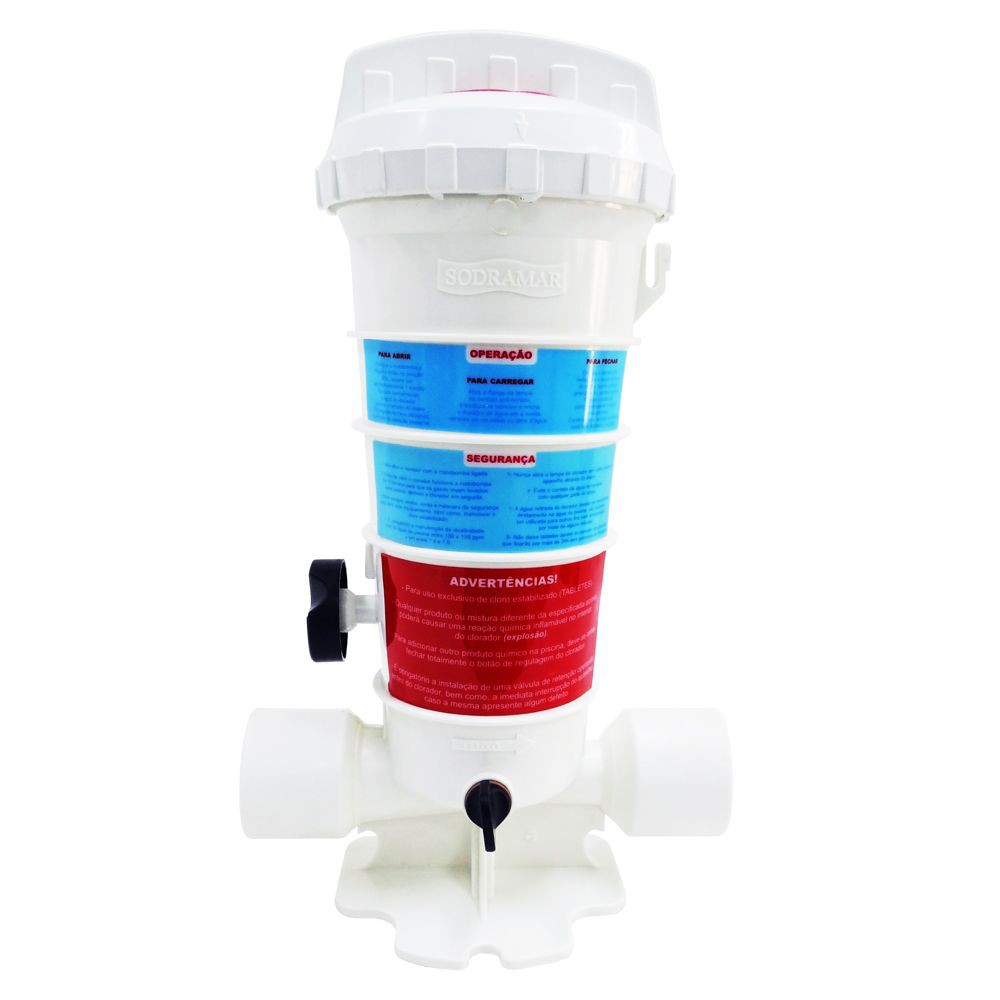 Dosador de cloro 2 kg automático para piscinas