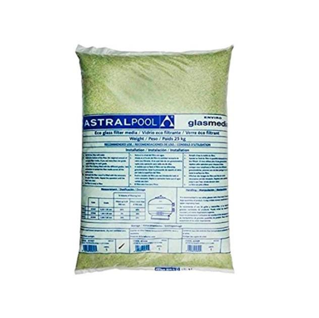 Leito Filtrante Vitreo (0,5Mm A 1,0Mm) Astralpool Fluidra - 25Kg