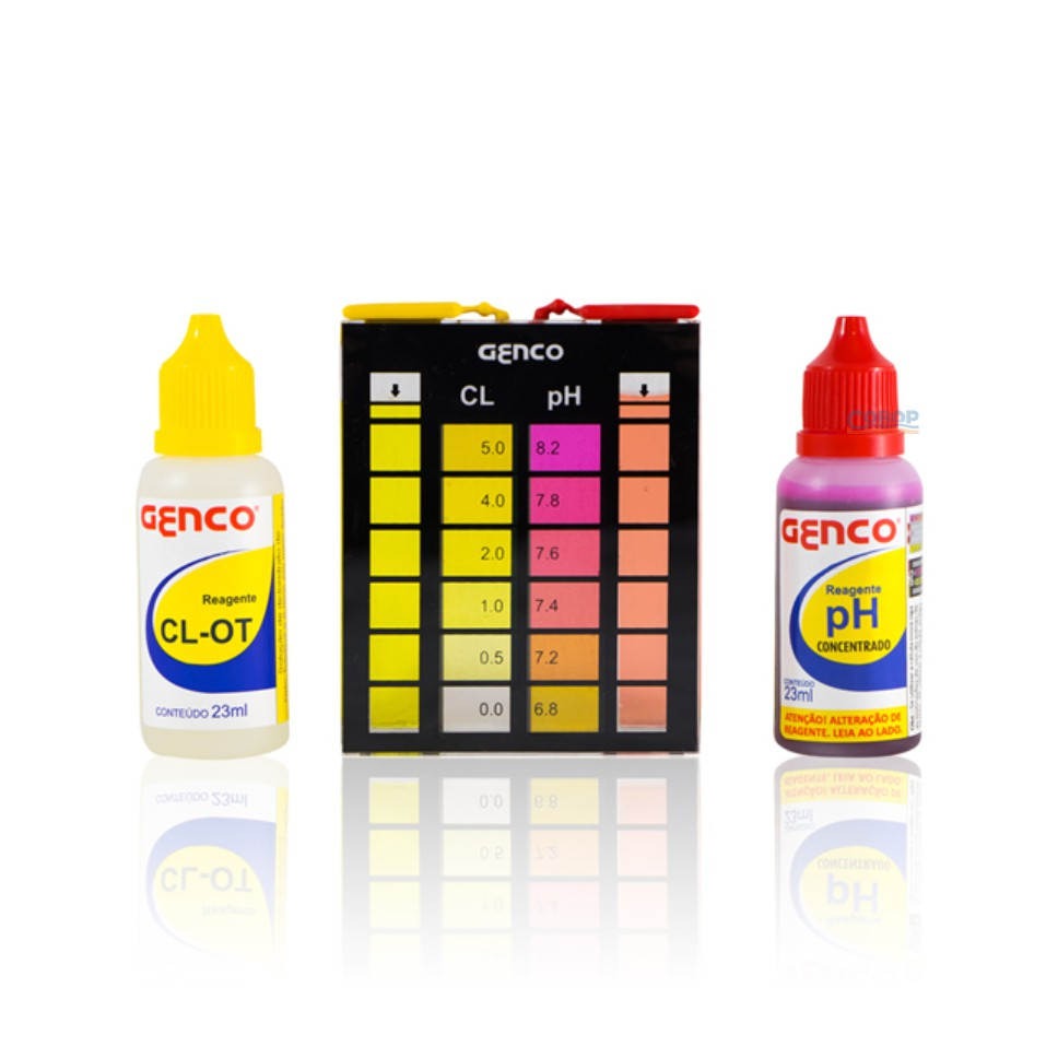Estojo De Analises CL/pH - Cloro Livre - Para Piscinas Genco