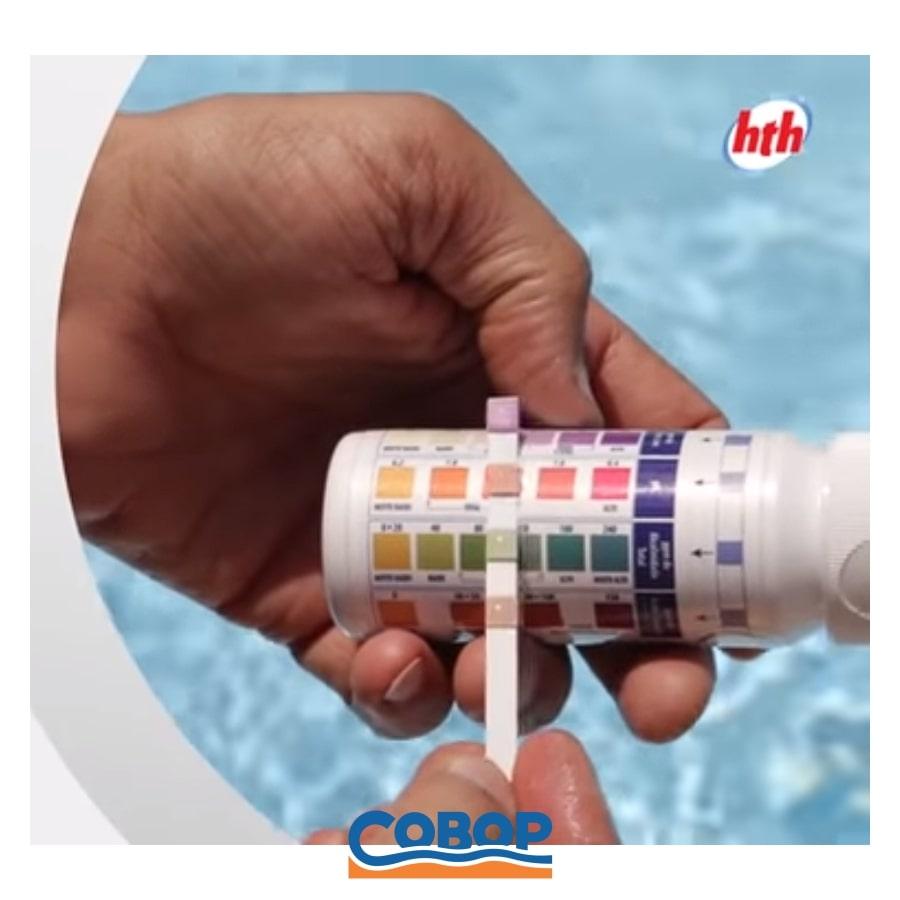 Fita Teste HTH - 4 funções - pH / Cloro / Alcalinidade - 25 fitas