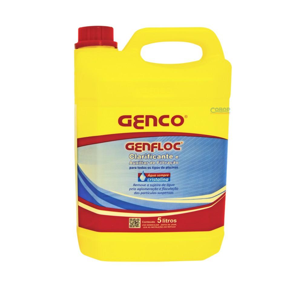 Genfloc Clarificante e Auxiliar de Filtração  5 Lt - Genco