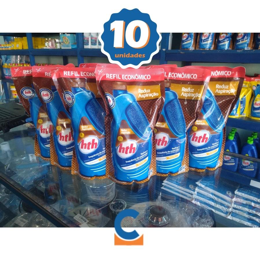 Kit c/ 10 Unid Reduz Aspiração De Sua Piscina Hth 900ml Economia De Agua