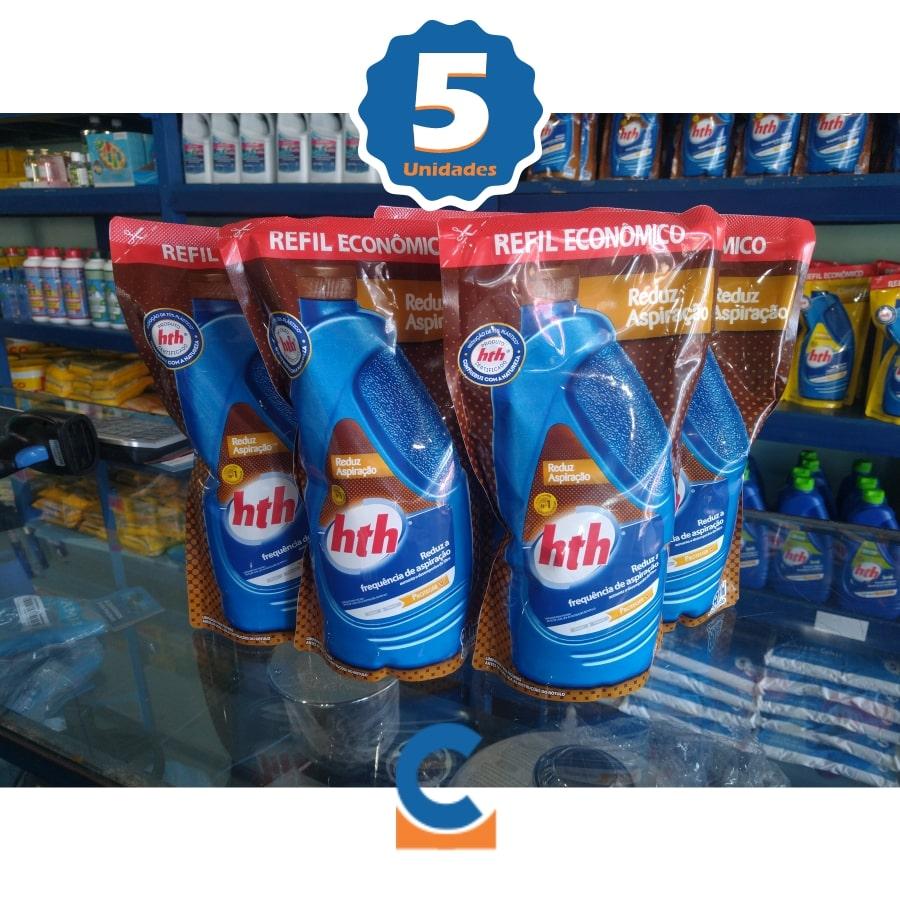 Kit c/ 5 Unid Reduz Aspiração De Sua Piscina Hth 900ml Economia De Agua