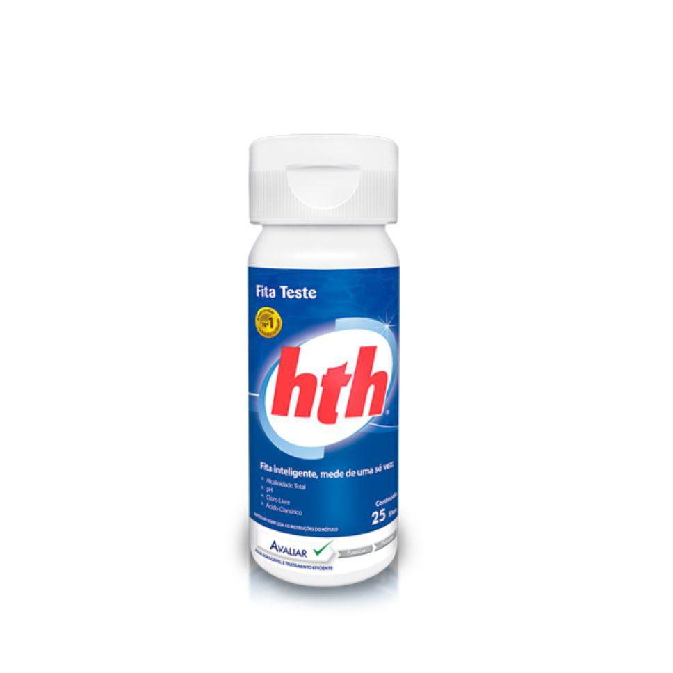 Kit Piscina Limpa HTH - Cloro 10 em 1 10kg + Fita Teste 25 fitas