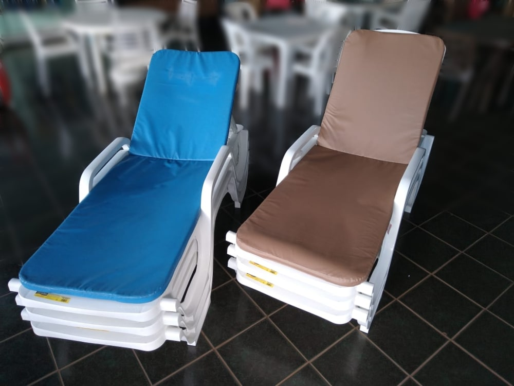 Almofada Para Cadeira Espreguiçadeira Bagum - 182 x 59 x 3,5 cm