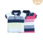 Camiseta  Polo Pique Listrado Upiuli Baby Boy